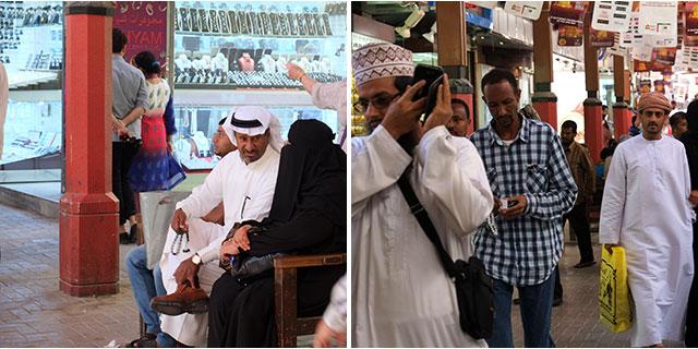 The busy Souq of Al Ras Dubai