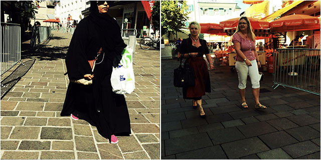 The different cultures in the streets of Zell