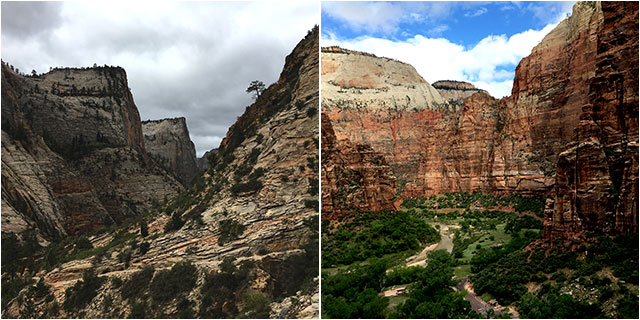 We did the East Rim Trail in the Zion under 3 hours while all brochures said 4 to 6 hours, wow. this was our race!